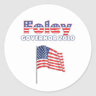Foley Patriotic American Flag 2010 Elections Classic Round Sticker