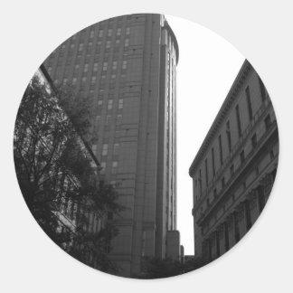 Foley Square Backdrop Classic Round Sticker