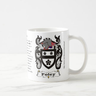Foley, the origin, meaning and the crest coffee mug