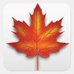 Folha Canadá Pegatina Cuadrada