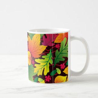 folhas de outono tazas
