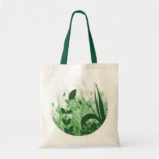 Foliage 3 Shades Circle Green Tote Bags