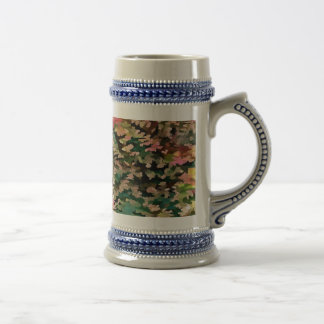 Foliage Abstract In Autumnal Tones Beer Stein