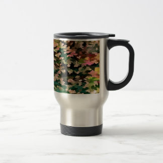 Foliage Abstract In Autumnal Tones Travel Mug