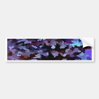 Foliage Abstract In Blue and Lilac Tones Bumper Sticker