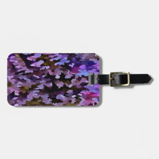 Foliage Abstract In Blue, Pink and Sienna Bag Tag