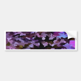 Foliage Abstract In Blue, Pink and Sienna Bumper Sticker
