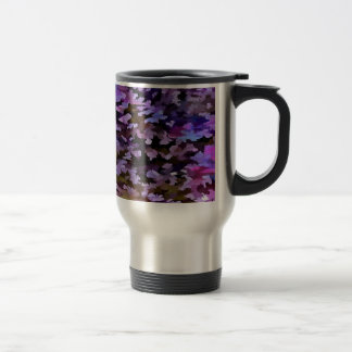 Foliage Abstract In Blue, Pink and Sienna Travel Mug