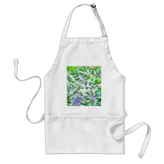 Foliage Abstract In Green and Mauve Adult Apron