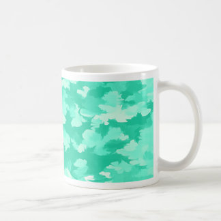 Foliage Abstract Pop Art Aqua Coffee Mug