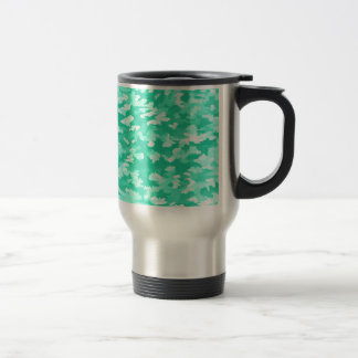 Foliage Abstract Pop Art Aqua Travel Mug