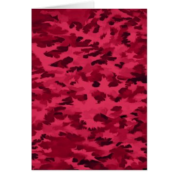 Foliage Abstract Pop Art Blush Red Card