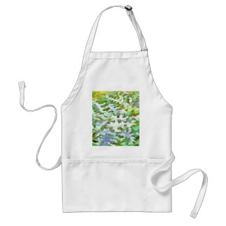 Foliage Abstract Pop Art In White Green and Powder Adult Apron