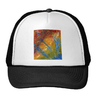 Foliage Abstract Red Blue Green Trucker Hat