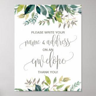 Foliage Address An Envelope Sign