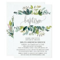 Foliage Baptism Invitation