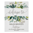 Foliage Baptism Welcome Poster