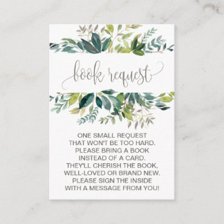 Foliage Book Request Invitation Insert