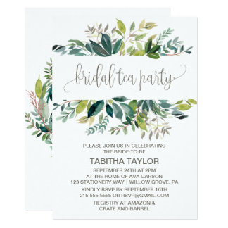 Foliage Bridal Tea Party Card