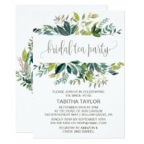 Foliage Bridal Tea Party Invitation