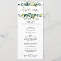 Foliage Dinner Menu Card