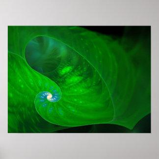 Foliage Fractal Art Poster