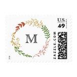 Foliage Garland (Fall Wedding) Escort Cards Postage Stamp