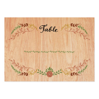 Foliage Garland (Wood) Fall Wedding Escort Cards Large Business Cards (Pack Of 100)