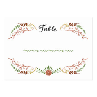 Foliage Garland Wreath Fall Wedding Escort Cards Large Business Cards (Pack Of 100)