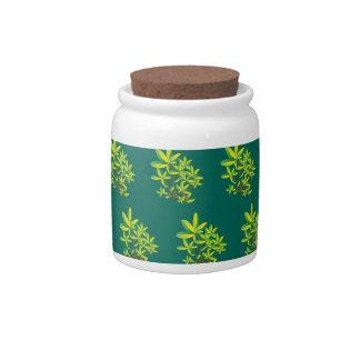 foliage green candy jars