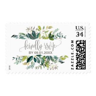 Foliage Kindly Reply Wedding RSVP Postage