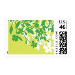 Foliage - Leaves, Kelly Green and Lime Green Postage Stamp