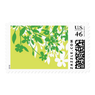 Foliage - Leaves Kelly Green and Lime Green Postage Stamp