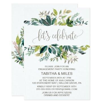 FreshAndYummy Foliage Let's Celebrate Engagement Party Card