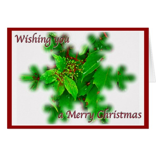 Foliage Merry Christmas Card