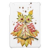 Foliage owl cover for the iPad mini