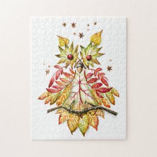 Foliage owl jigsaw puzzle