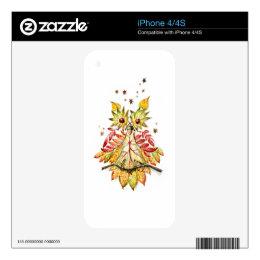 Foliage owl skin for iPhone 4