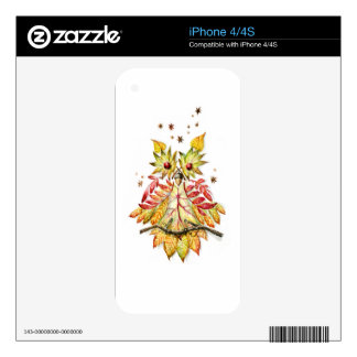 Foliage owl skin for iPhone 4
