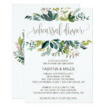 Foliage Rehearsal Dinner Card