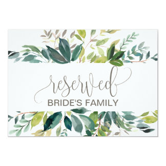Foliage Reserved Sign Card