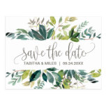 Foliage Save The Date Postcard at Zazzle