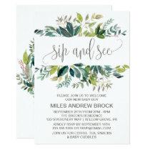 Foliage Sip and See Card