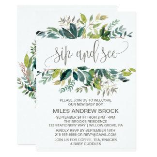 Foliage Sip and See Invitation
