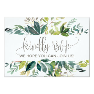 Foliage Song Request Rsvp Card at Zazzle
