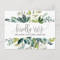 Foliage Song Request RSVP Invitation Postcard