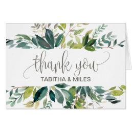 Foliage Thank You Card