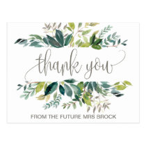 Foliage Thank You Postcard