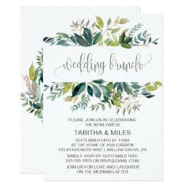 Foliage Wedding Brunch Card