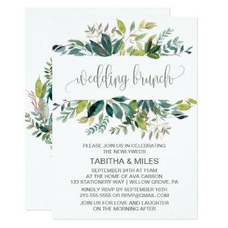 Foliage Wedding Brunch Card